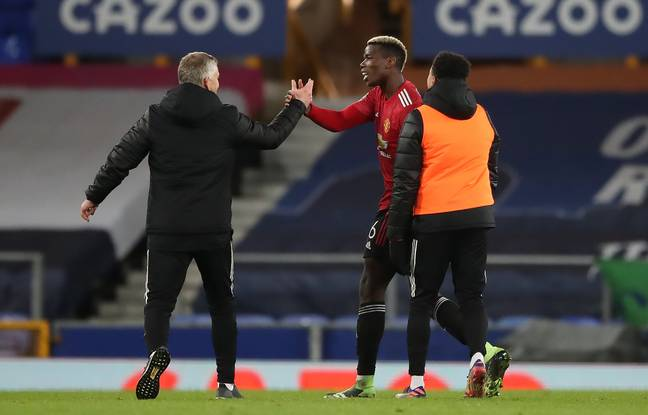 Things have definitely been improved between Solskjaer and Pogba. Image: PA Images
