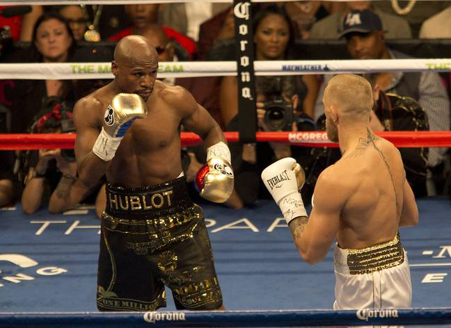 Mayweather could fight McGregor again, but inside the octagon this time. Image: PA Images