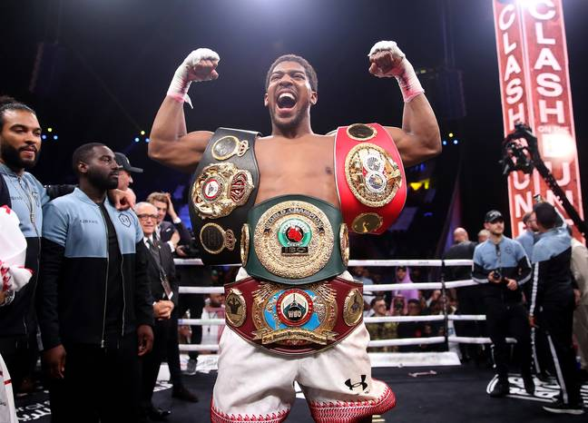 Joshua is still only at three despite recapturing the titles. Image: PA Images