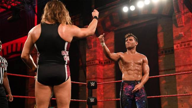 Dar has had a recent title opportunity against Pete Dunne. Image: WWE