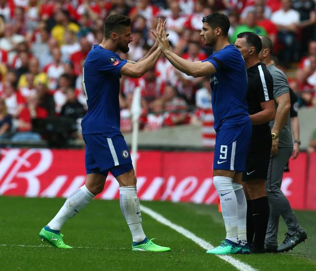 Morata and Giroud are Chelsea's first choice strikers. Image: PA Images
