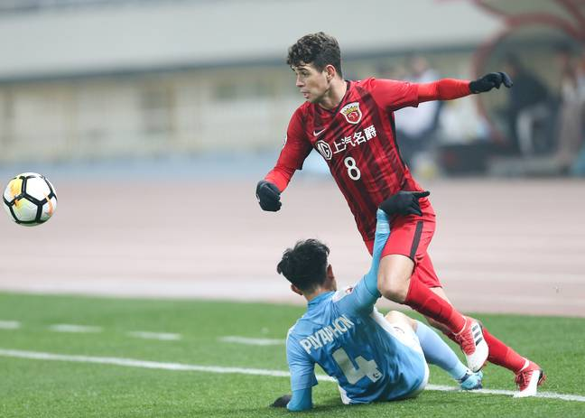 Oscar in action in China. Image: PA Images
