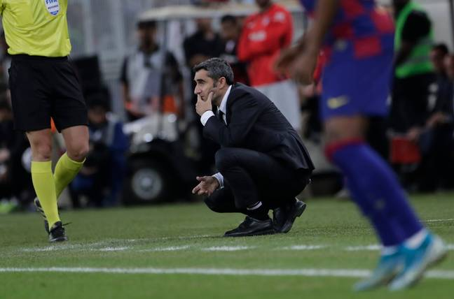 Valverde during the loss to Atletico. Image: PA Images