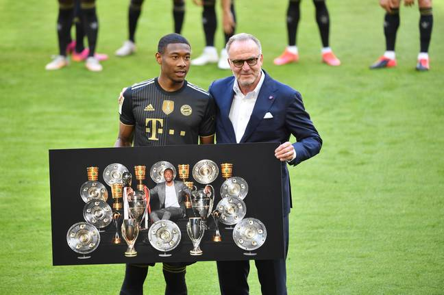 Alaba certainly collected a decent amount of trophies during his time with Bayern. Image: PA Images