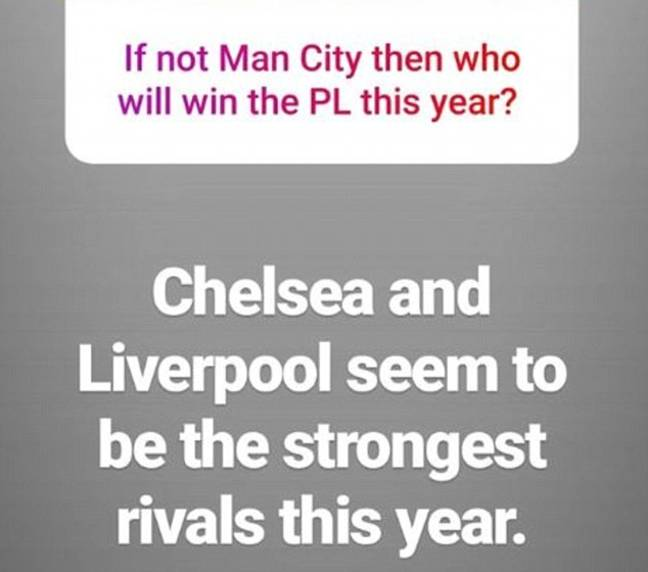 Gundogan picked Liverpool and Chelsea ahead of United. Image: Instagram/Daily Mail