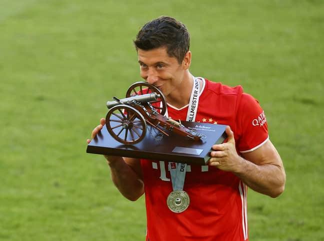 Lewandowski won the Bundesliga top scorer title with 34 goals. Image: PA Images