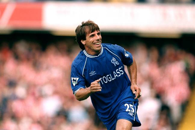 Zola played in a very different Chelsea team but was excellent. Image: PA Images