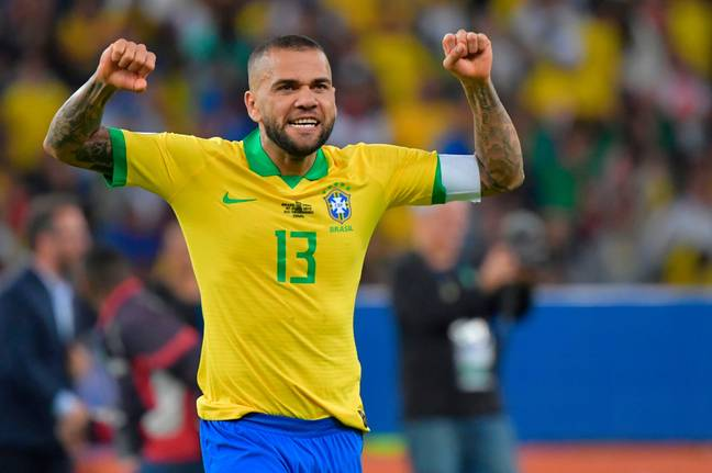 Dani Alves is now 38-years-old and has a won a host of honours in a glittering career