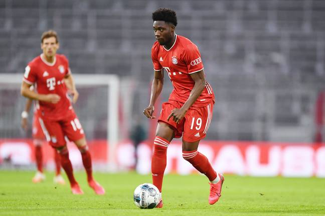 Alphonso Davies has thrived at left-back due to Bayern Munich's injury problems in defence. (Image Credit: PA)