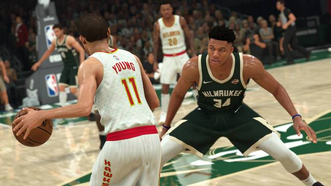 The game features improved user experience including ball handling, jump shots, layups and dunks. Credit: 2K