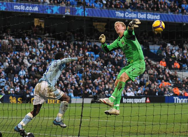 Hart's save in 2008 (Image Credit: PA)