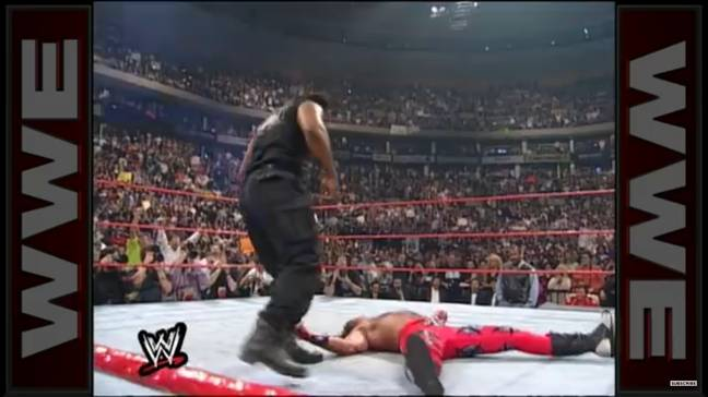 Mike Tyson's right hand on Shawn Michaels was so forceful that it left the DX star injured