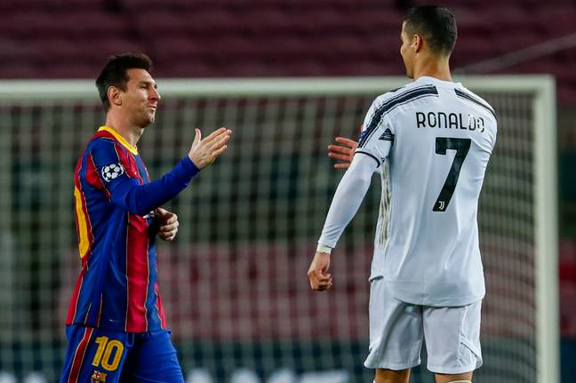 Ronaldo and Messi met in the Champions League recently. Image: PA Images