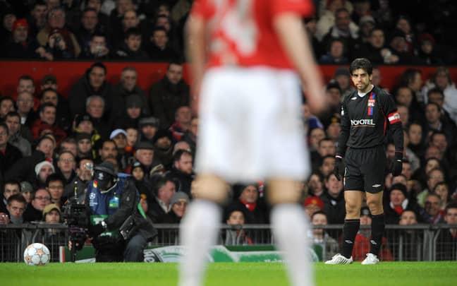 Juninho in his natural habitat, lining up a free kick for Lyon. Image: PA Images
