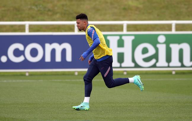 Sancho is yet to play for England at the Euros. Image: PA Images