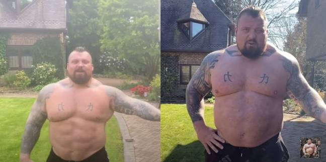 Hall's before and after images really show the difference he's made. (Image Credit: PA)