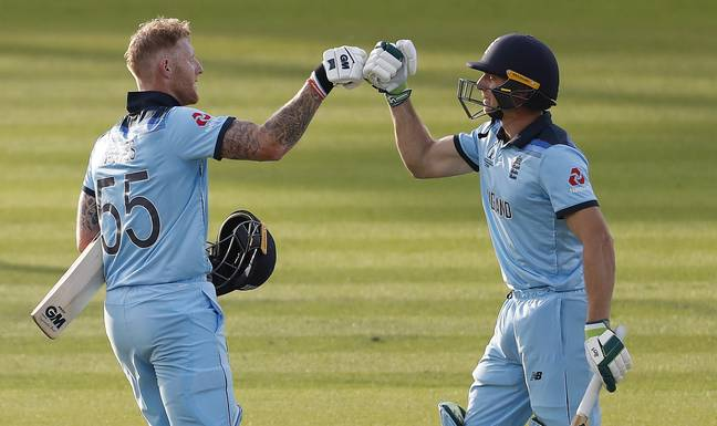 The punter owes Ben Stokes and Jos Buttler a drink. Image: PA Images