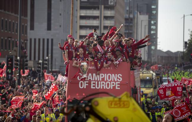 Liverpool's next trophy celebration will be a little different. Image: PA Images