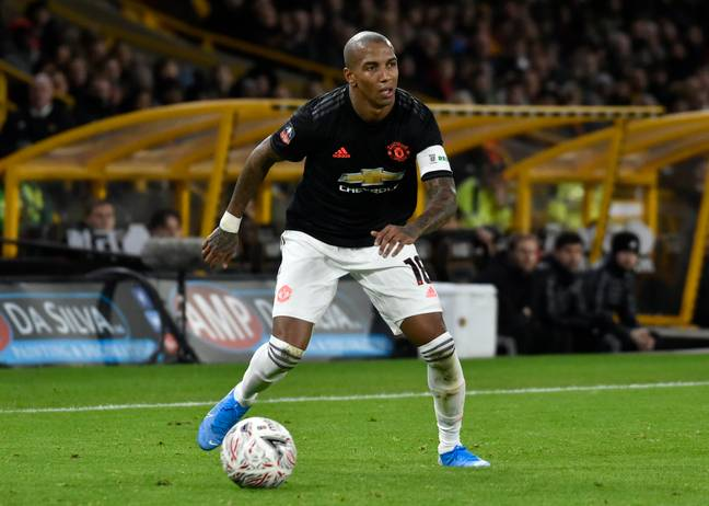 Young playing for United in the recent FA Cup draw with Wolves. Image: PA Images