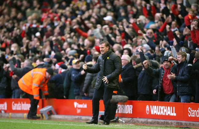 Rodgers had a good time at Anfield. Image: PA Images