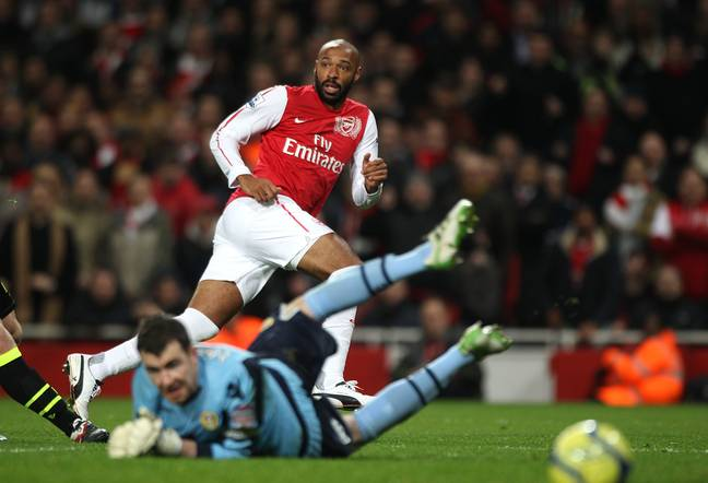 Arsenal's Thierry Henry scores the opening goal of the game. Image: PA
