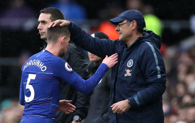 Jorginho and Sarri have worked together twice before. Image: PA Images