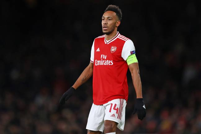 Aubameyang has just one year left on his deal at the Emirates. Image: PA Images