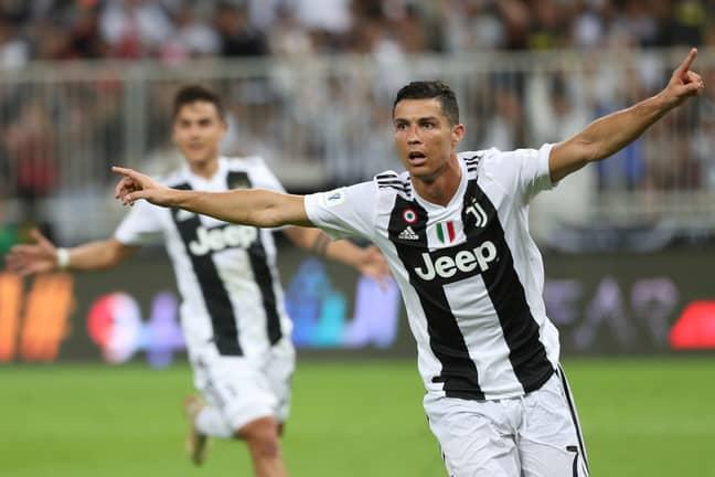 Ronaldo celebrates his goal. Image: PA Images