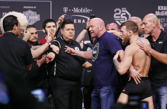 McGregor and Khabib square up. Image: PA Images