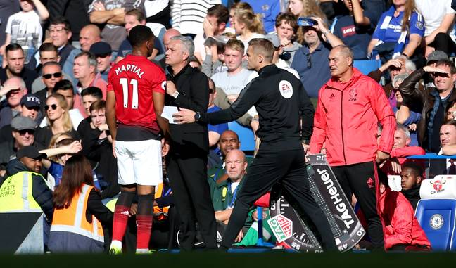 Mourinho tried to sell Martial but the board blocked the move. Image: PA Images