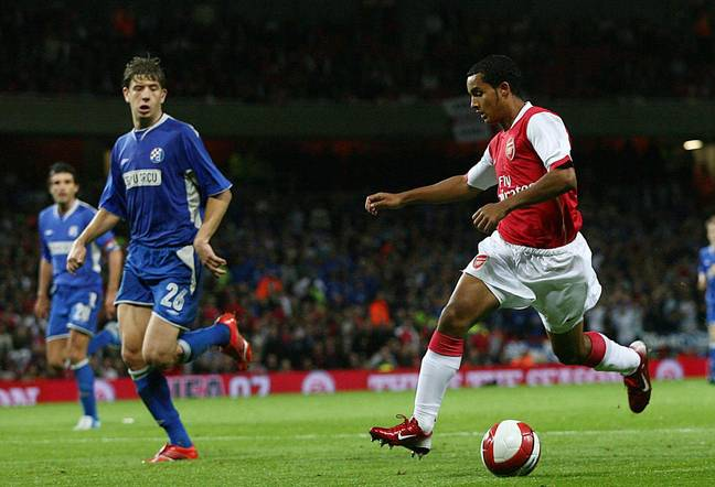 Drpic in action against Arsenal. (Image Credit: PA)