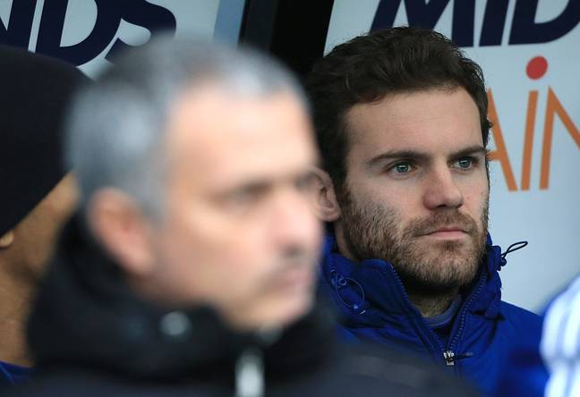 Mata had to get used to this scene at Stamford Bridge under Mourinho. Image: PA Images