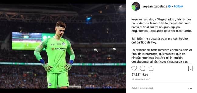 Credit: Kepa Arrizabalaga/Instagram
