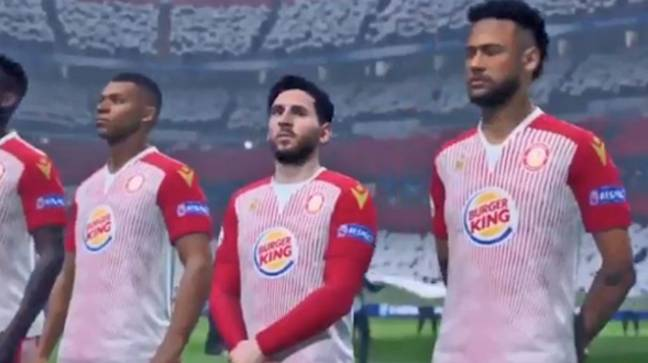 Kylian Mbappe, Lionel Messi and Neymar line up for Stevenage FC in Ultimate Team. Credit: YouTube
