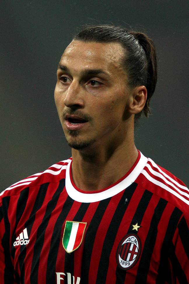 Zlatan Ibrahimovich during his first spell at Milan in 2010