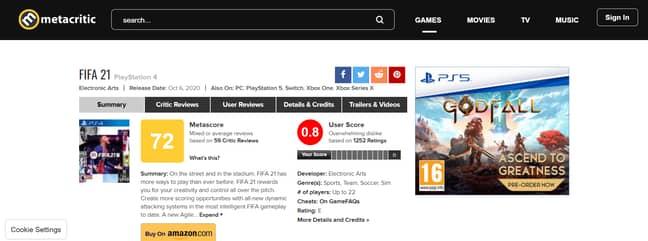 Image Credit: Metacritic