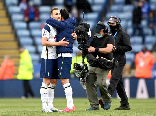 It looked like Harry Kane was saying goodbye to his Tottenham teammates on the final day of the season. Image: PA Images