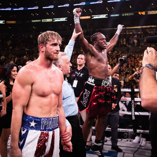 KSI defeated Logan Paul last year. Credit: Instagram
