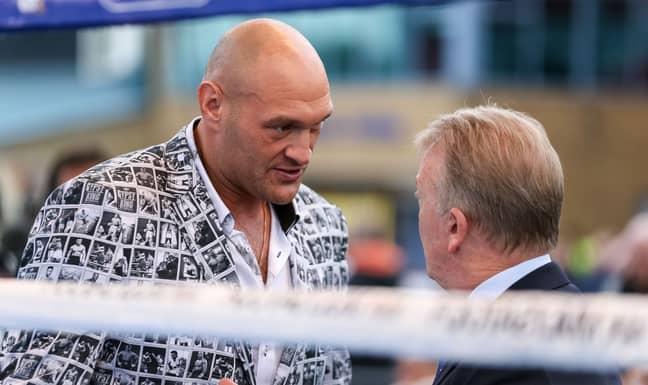 PA: Tyson Fury with Frank Warren
