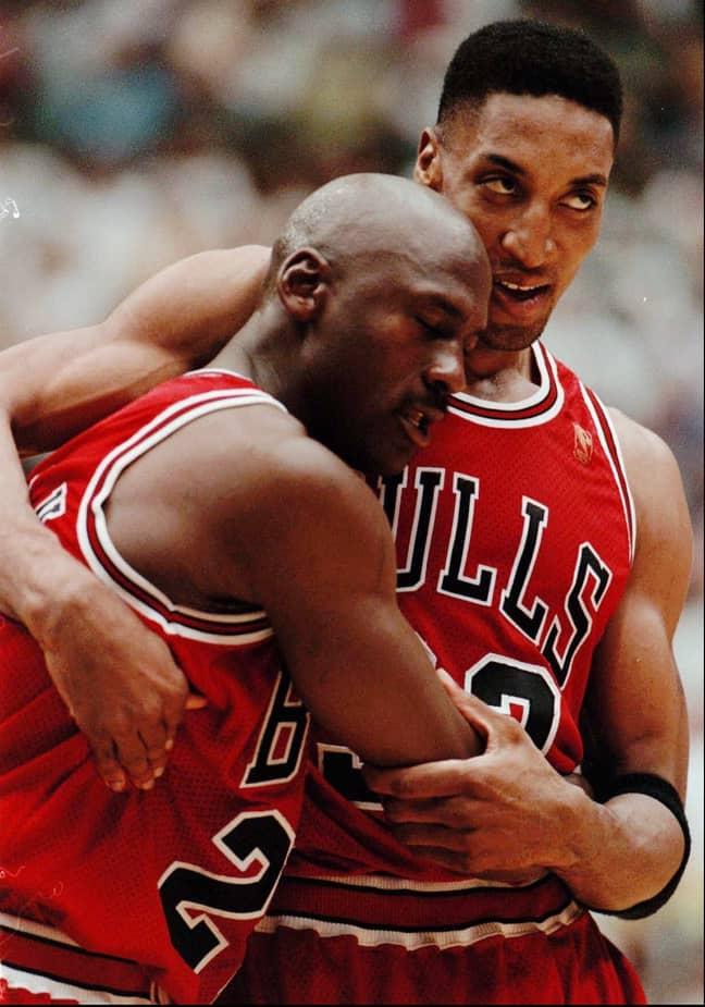 Michael Jordan and Scottie Pippen. Credit: PA