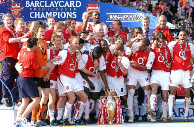 Arsenal last won the Premier League title as the Invincibles, 17 years ago. Image: PA Images