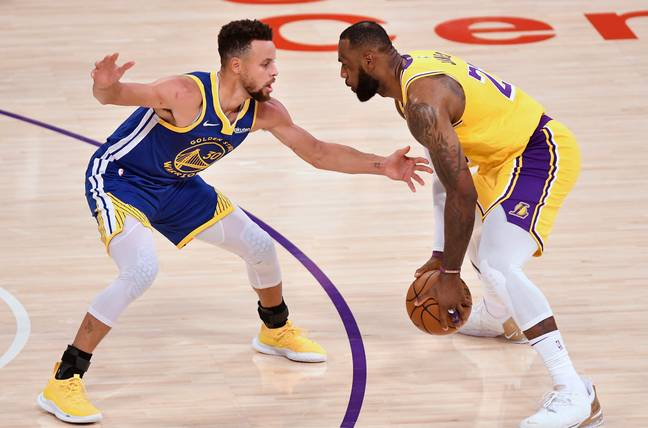Steph Curry and LeBron James. Credit: PA
