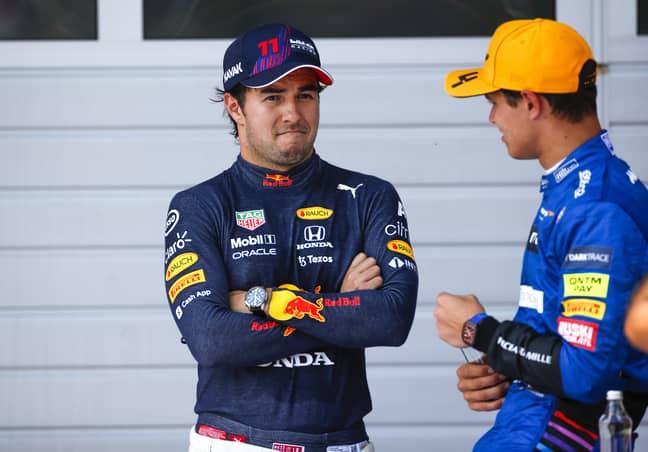 Sergio Perez and Lando Norris. Credit: PA