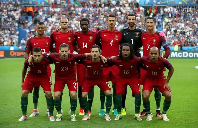 Sanches lines up for Portugal. Image: PA