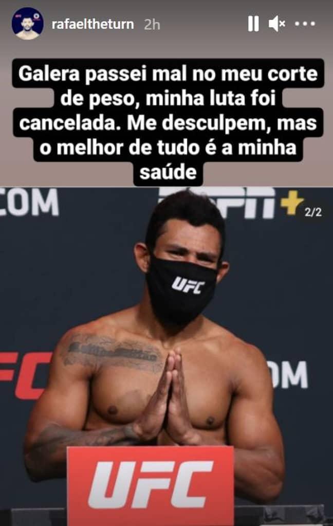 Alves' apology on his Instagram story. Image: Instagram/@rafaeltheturn