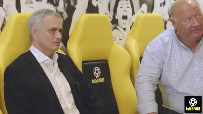 Jose Mourinho and talkSPORT regular Alan Brazil. What a combo. Image: talkSPORT.