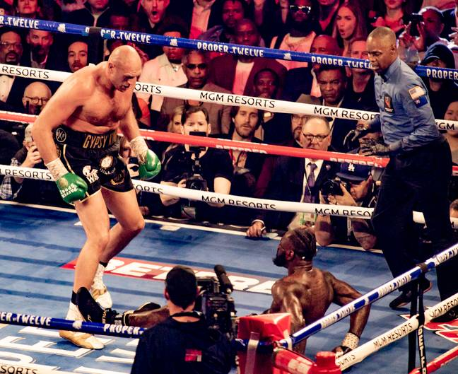 Fury knocked Wilder down twice in February. Image: PA Images