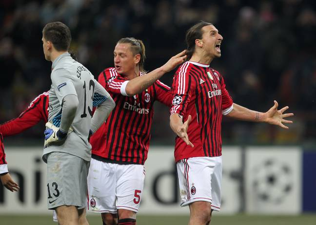 Zlatan won the Serie A title with Milan. Image: PA Images