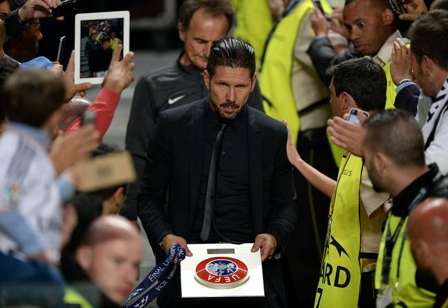 Simeone has been unlucky twice in the Champions League final. Image: PA Images.