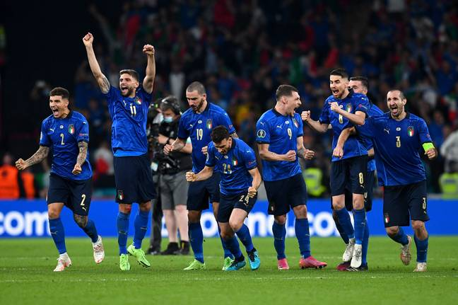 Italy were crowned European champions after beating England on penalties